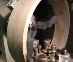 Islander OB-01 banjo rim on lathe